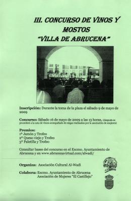 III. CONCURSO DE VINOS Y MOSTOS